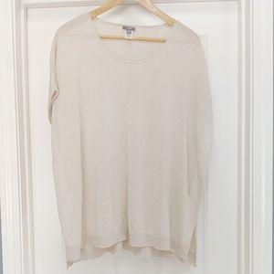 J. Jill linen blend short sleeve poncho top